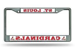 St Louis Cardinals BOLD Design Chrome Frame Metal License Pl