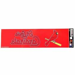 "ST. LOUIS CARDINALS BUMPER STICKER 11"" X 3"" BASEBALL CAR TRU"