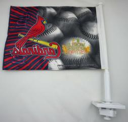 "St. Louis Cardinals Car Window Flag World Series 2011 15"" x"