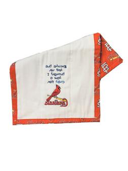 """St. Louis Cardinals Custom Embroidered Baby Burp Cloth """"Ex"""