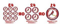 St. Louis Cardinals decal sticker pc sport car fridge magnet