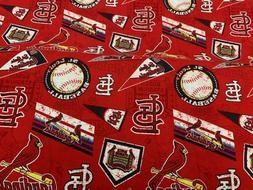 "St. Louis Cardinals Fabric 58"" Wide MLB Baseball Pendants Qu"