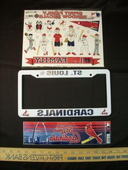 ** ST LOUIS CARDINALS **FAN LOT Bumper Sticker Plate Frame D