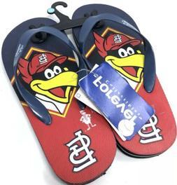 st louis cardinals flip flops kids youth