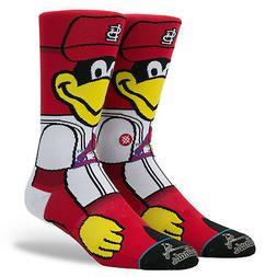 St. Louis Cardinals Fredbird Mascot Stance Socks MLB Large M