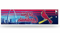 St Louis Cardinals Glitter Bumper Sticker  MLB Auto Car Truc