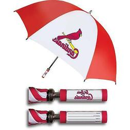 St. Louis Cardinals Golf Umbrella With ID Handle