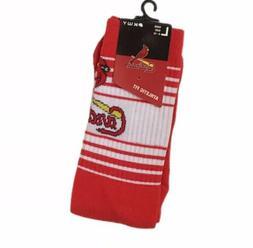 St. Louis Cardinals Horizon Crew Socks Large ~ Men's 6-12 Wo