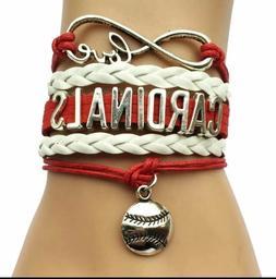 St. Louis Cardinals Infinity Bracelet Baseball Love white An