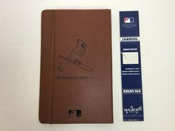 "St. Louis Cardinals Leatherette Journal, Brown, 5-1/4"" x 8-3"