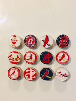 St Louis Cardinals Magnets - Set Of 12 - FREE SHIPPING