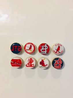St. Louis Cardinals Magnets - Set Of 8 - FREE SHIPPING