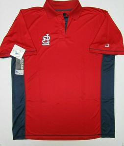 ST LOUIS CARDINALS MENS POLO MAJESTIC SIZE XL TALL 2X 3X NEW