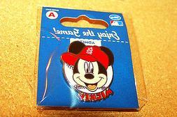 St. Louis Cardinals Mickey Mouse portrait on baseball Disney