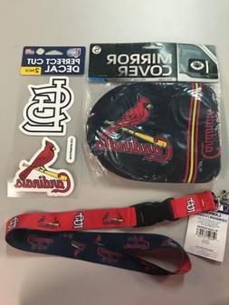 St Louis Cardinals mirror covers, lanyard, 2 perfect cut dec
