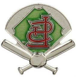 St. Louis Cardinals MLB Baseball Field & Bats Sports Pin Lic