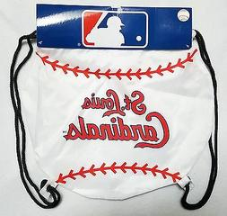 ST LOUIS CARDINALS MLB BASEBALL TEAM LOGO DRAWSTRING BACKPAC