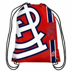 St Louis Cardinals MLB Big Logo Side Stripe Drawstring Backp