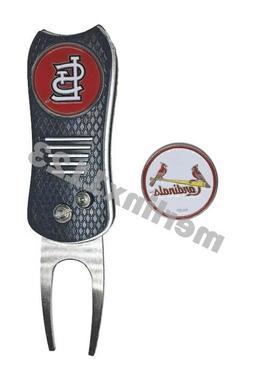 St. Louis Cardinals MLB Golf Ball Marker With Switchfix Swit