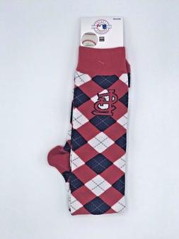 St Louis Cardinals MLB Women's Checkered Knee High Socks