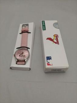 St. Louis Cardinals Game Time Pink Ladies Watch