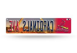"ST LOUIS CARDINALS PLASTIC STREET SIGN 4""X16"" ""CARDINALS AVE"