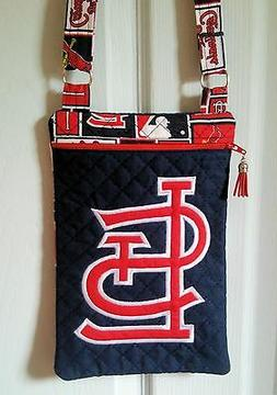 St. Louis Cardinals Purse - Hand Made to Order - Embroidered
