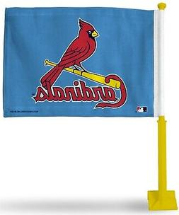 St Louis Cardinals Retro Design Premium 2-Sided Car Flag w/Y