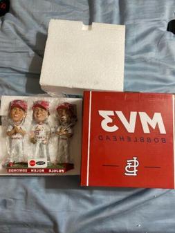 St Louis Cardinals SGA MV3 Triple Bobblehead Pujols, Rolen,