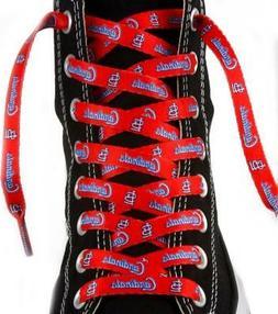"""St Louis Cardinals Shoe Laces 54""""  MLB Lace Sneaker Tennis G"""