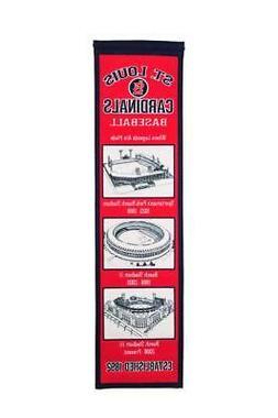 St Louis Cardinals Stadium Evolution MLB 8x32 Wool Felt Heri