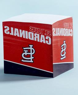 ST LOUIS CARDINALS---STICKY NOTE PAPER CUBE ---550 SHEETS