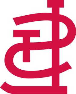 """St Louis Cardinals STL logo 3"""" Red or White Vinyl Decal Truc"""