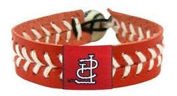 St Louis Cardinals Team Color Baseball Bracelet  MLB Jewelry