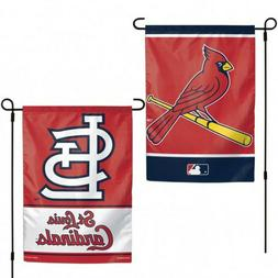 "ST LOUIS CARDINALS TEAM GARDEN WALL FLAG BANNER 12"" X 18"" 2"
