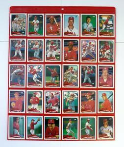ST. LOUIS CARDINALS TEAM SET Topps Baseball Cards Lot 30 w/S