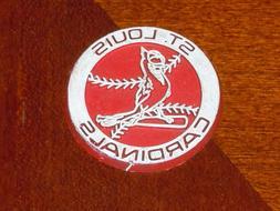 ST. LOUIS CARDINALS Vintage MLB RUBBER Baseball FRIDGE MAGNE