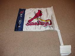 St Louis Cardinals White Bird on the Bat Car Flag from 1999
