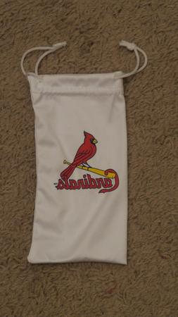 St Louis Cardinals White Drawstring EyeGlass Bag - New