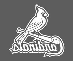St. Louis Cardinals White Vinyl Logo Decal