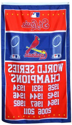 St. Louis Cardinals World Series Championship Flag 3x5 ft ML