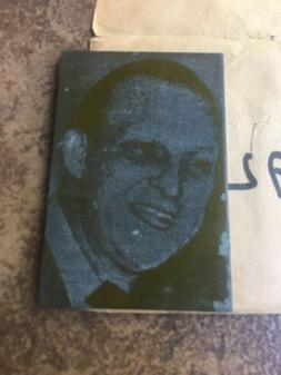 STAN MUSIAL NY NEWSPAPER PRINT PLATE -VINTAGE PLATE RARE