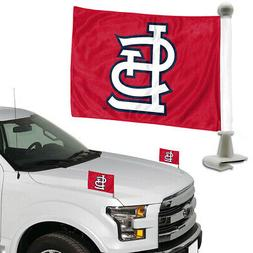 "TWO   ST LOUIS CARDINALS  4"" x 6""  CAR OR TRUNK FLAGS FROM T"