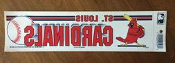 Vintage St. Louis Cardinals 1989 Bumper Sticker NOS Old Stoc